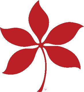 Scarlett Buckeye Leaf