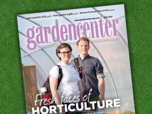 Garden Center magazine cover with fresh faces of horticulture