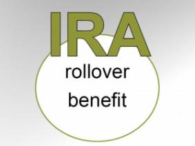 IRA rollover benefit