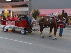 Horsemen's Association at the Homecoming Parade