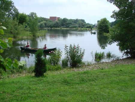 Canoeing at Chadwick Arboretum.