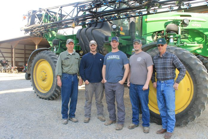 Eric, Steven, David, Matt and Mark Spillman.  Photo credit: Katy Mumaw, Farm and Dairy