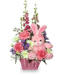 Floral arrangement gift basket