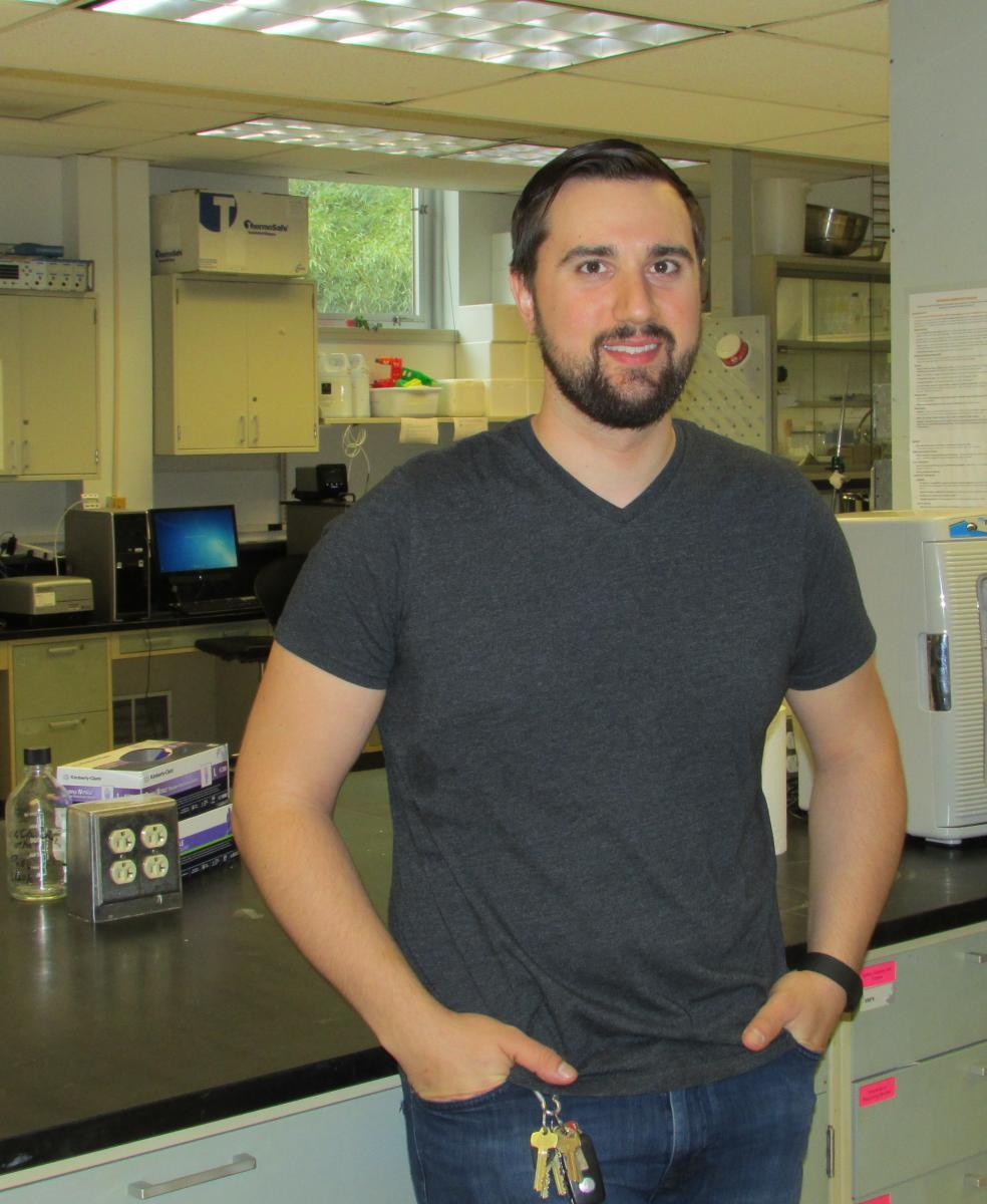 Doctoral student John Frelka