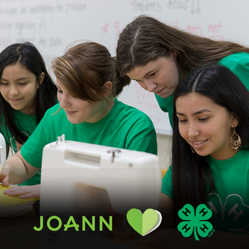 Support 4-H at local JOANN stores.