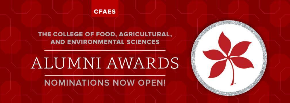 CFAES Alumni Awards Nominations Now Open!