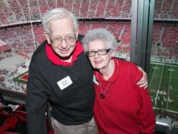 Frank and Ginni Bazler at Ohio Stadium during the game