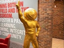 Brutus Buckeye statue
