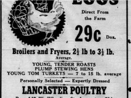 Lancaster Poultry Ad (courtesy, Lancaster Eagle-Gazette)