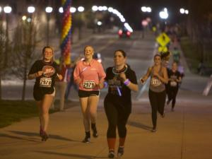 Runners at the Buck-I-Run.