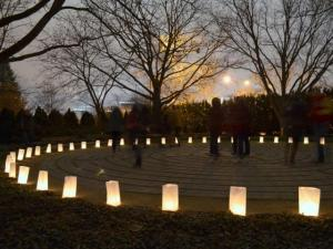 Winter Solstice Labyrinth Walk at Chadwick Arboretum