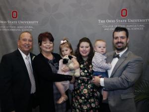 Virgil Strickler with his family, three generations of Buckeye supporters