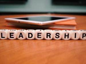 "The word ""Leadership"" spelled out in blocks."