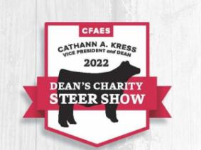 Dean's Charity Steer Show graphic