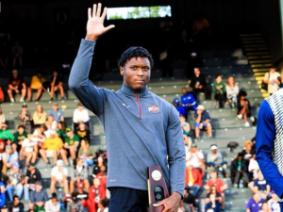 Zack Bazile, NCAA national title holder and ACEL student