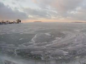 Ice on Lake Erie from Julia Christensen's Waiting for a Break