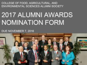 Nominate an Alum for the 2017 CFAES Alumni Awards!