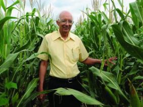 CFAES alum Rattan Lal in a corn field