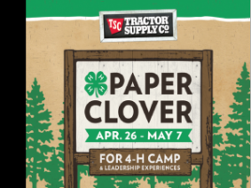 4-H Paper Clover April 26-May 7