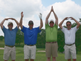 Golfers at ATI golf outing.