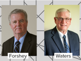 Portraits of Tony Forshey and Wendell L. Waters