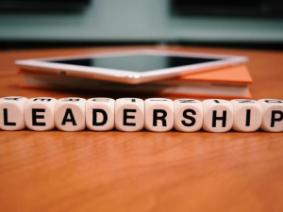 "The word ""Leadership"" spelled out in blocks."